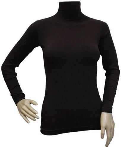 Women Basic Long Sleeve shirt Plain high Neck bodywear islamic silvy lycra