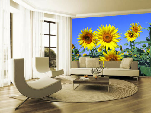 Sunflower Plant Sky Tree Wallpaper Photo Mural Picture Bedroom Decoration