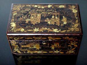 Tres-Fine-Chinese-box-laque-peint-19th