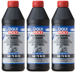 liqui moly 4434 hochleistungs getriebe l gl4 sae 75w 90 3 x 1 liter ebay. Black Bedroom Furniture Sets. Home Design Ideas