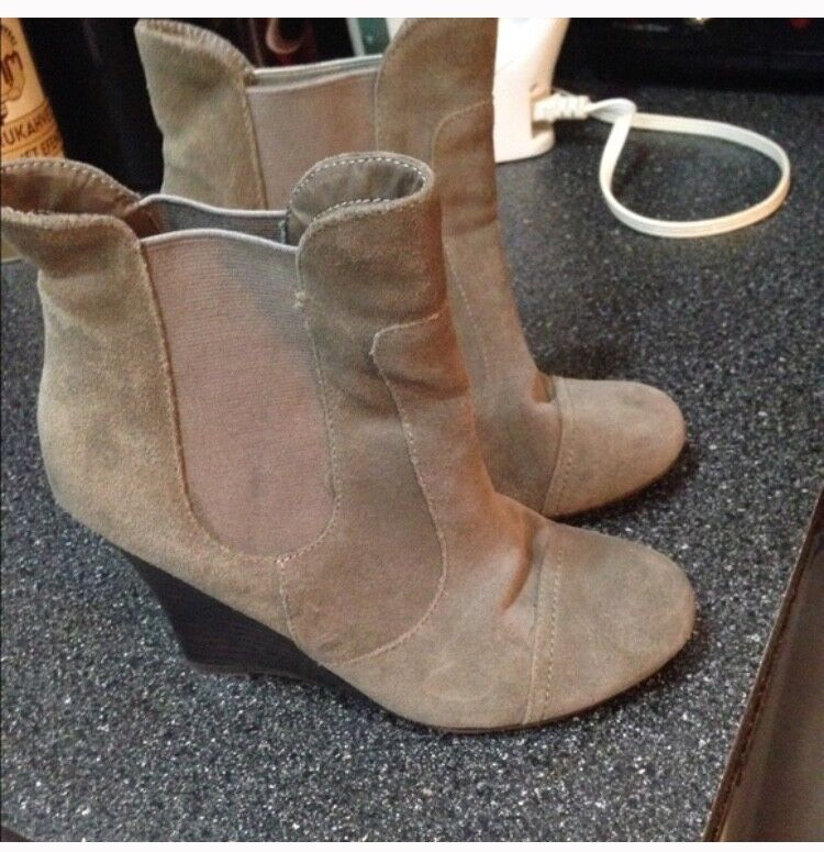 Taupe Greyish Booties Size 7