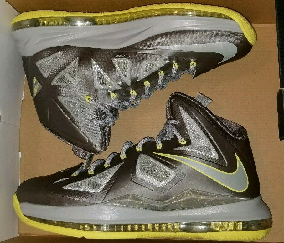 NIKE LEBRON X YELLOW DIAMOND SZ 9 ALL STAR BHM EASTER CHAMPIONSHIP XMAS ELITE kd