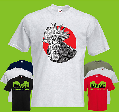 Victorian Rooster Engraving T-Shirt.Victoriana Cockerel Cock