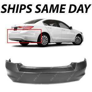 NEW-Primered-Rear-Bumper-Cover-for-2008-2009-2010-2011-2012-Honda-Accord-Sedan