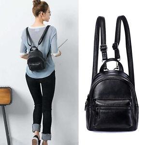 Convertible-Small-Mini-Genuine-Leather-Backpack-Rucksack-Shoulder-Bag-Purse-Cute
