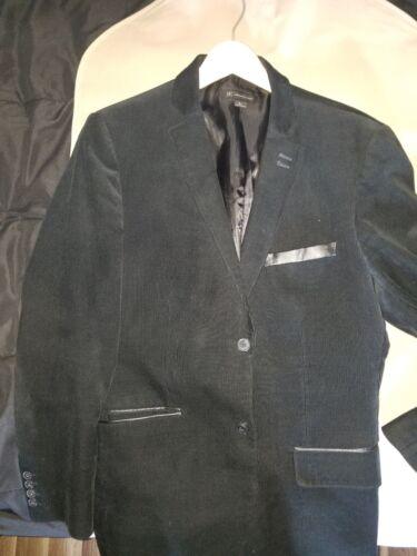 Men's Sports Jacket, Black, Large, Corduroy Look