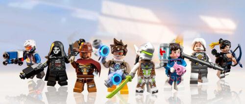 LEGO Overwatch Minifigures D.Va Tracer Reinhardt Widowmaker New Minifigure