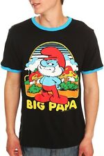 The Smurfs Size XS Big Papa Smurf Comfy Ringer T-Shirt Sz Extra Small Tee New