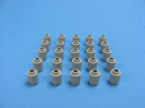 20x LEGO Old Gray Round Brick 1x1 Open Stud Classic Castle Space Pirate #3062b