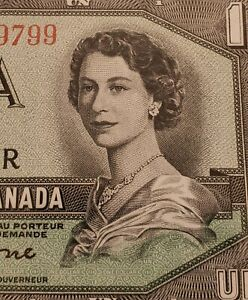 1954-Canada-1-DEVIL-FACE-Banknote-Graded