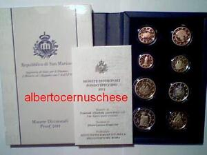 100% Vrai 2011 Coffret Be 8 Pièces Euro Saint Marin San Marino Pp