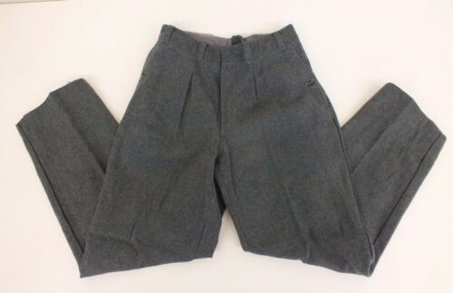 "Vintage Warm 100/% Wool Gray Military Surplus Pants  29/"" Waist x 39/"" Total Length"