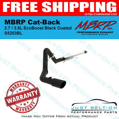 MBRP S5262AL Exhaust System Cat Back 2015 - UP Ford F150 Excluding Reg Cab Short Box 3, Pre-Axle Dual Outlet