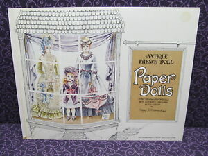 BEAUTIFUL-VINTAGE-1975-UNCUT-EVERGREEN-PRESS-PAPER-DOLLS-ANTIQUE-FRENCH-DOLLS