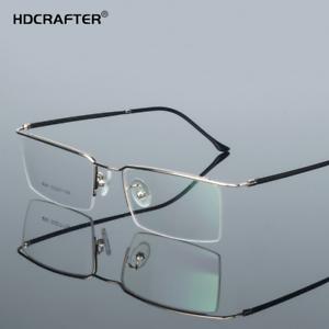 831b75fe3d Image is loading HDCRAFTER-Men-Metal-Optical-Eyewear-Frames-Myopia-Square-