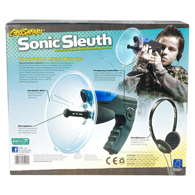 Parabolic Sonic Microphone Spy Listening Device Bionic Ear Sound Amplifier  300m