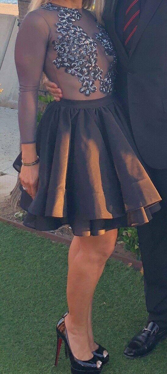Walter Hommesdez collection robe de cocktail noir