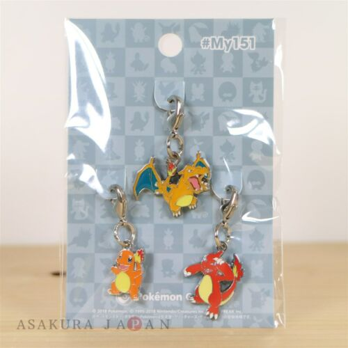 Pokemon Center #My151 Metal Charm # 004 005 006 Charmander Charmeleon Charizard