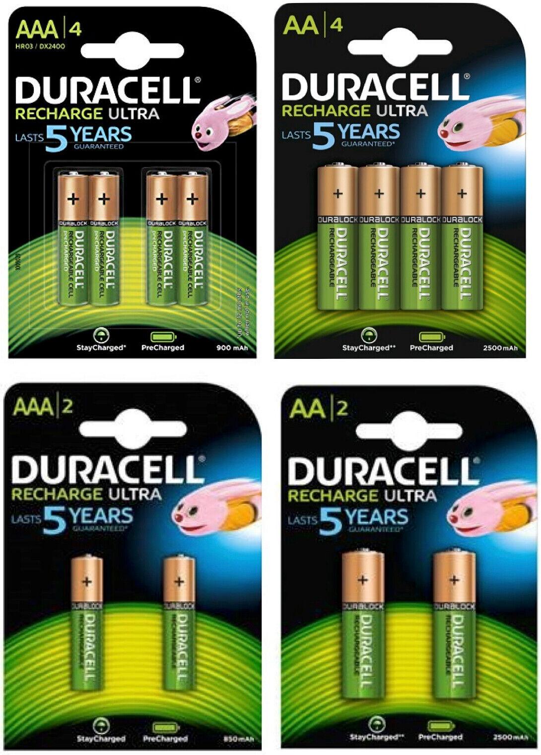 Duracell Recharge Ultra Akkus Accus AAA Micro 900mAh AA Mignon 2500mAh    Fairer Preis