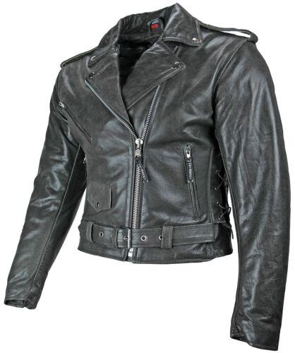 schwarz Gr Heyberry Damen Motorradjacke Lederjacke retro grau 36 S