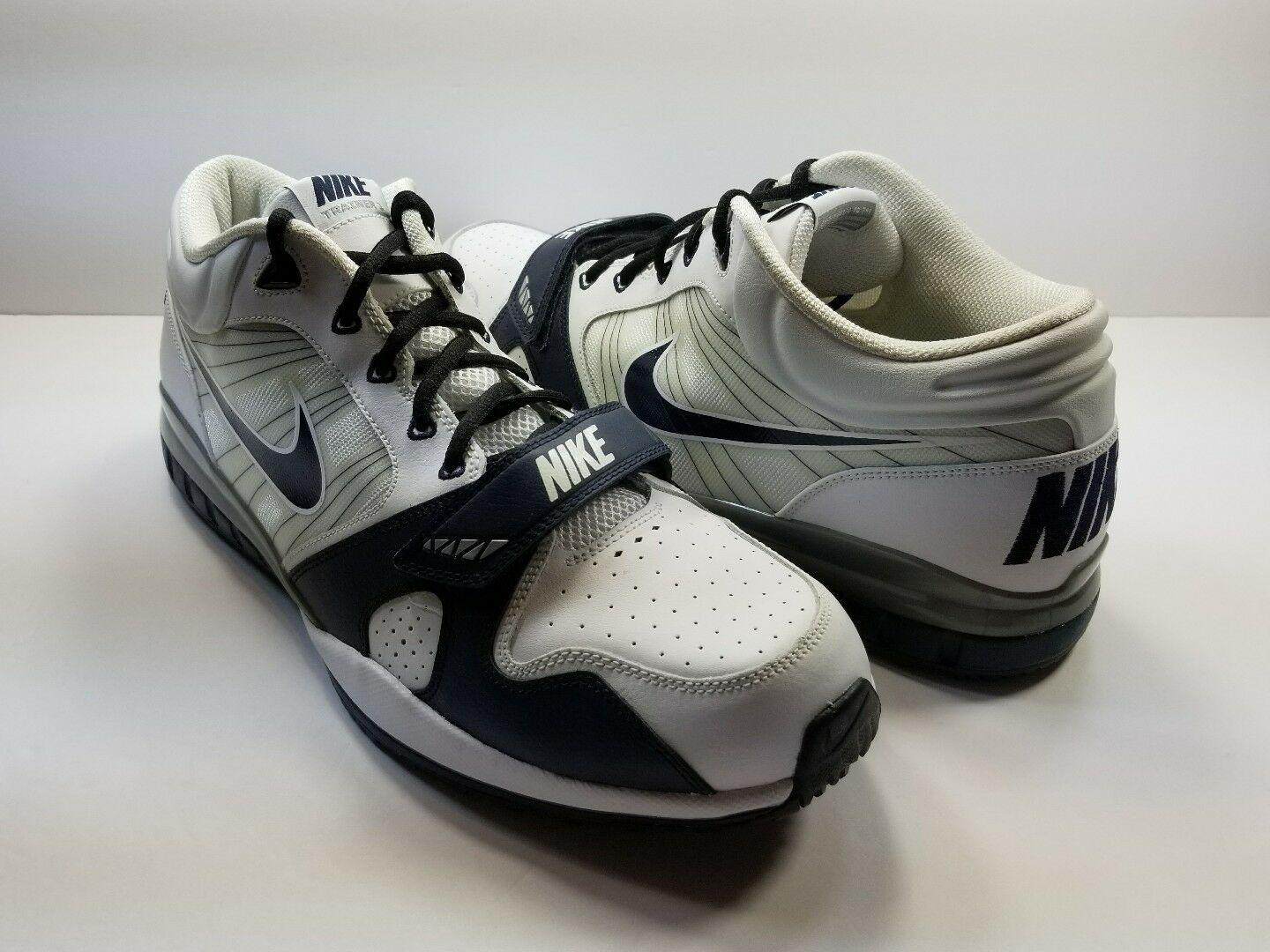 Nike Trainer 1 7V7 White/Navy/Silver Mens Sneakers - Size 15