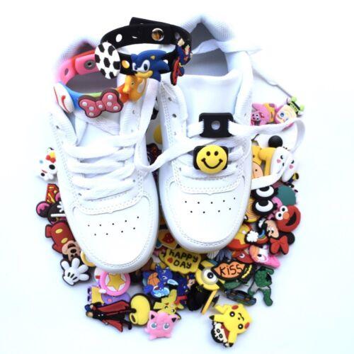 US 1000PCS Random Croc Charms Accessories Buckle For Fit Croc Shoes Jibbitz Band