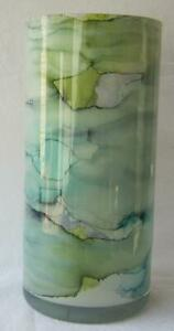 Genuine Italian Art Glass Vase Franco Italy Pastel Blue Light Green No 13