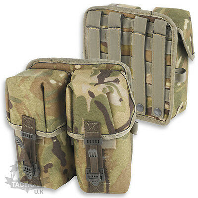 MTP MULTICAM MOLLE DOUBLE AMMO POUCH CITEX BUCKLE WEBBING BRITISH ARMY