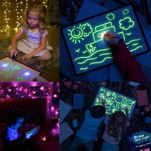 Giocattoli-Educativi-Disegno-Magico-Lavagna-Con-Luce-Bambino-Bambina