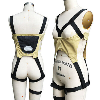 OW Overwatch Tracer Lena Oxton Cosplay Costume Black bandage Strap Harness