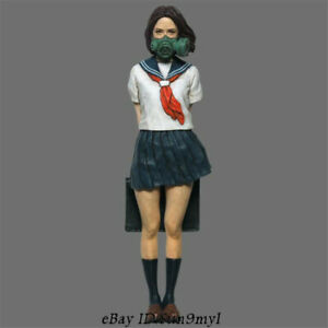 1-35-Masked-Girl-Figure-Student-Resin-Kits-Model-GK-Unpainted-Unassembled