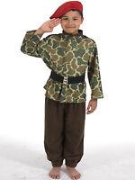 Kids Army Costume Commando Soldier Camouflage Boys Fancy Dress Childs Uniform