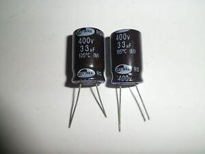 Samwha-Elko-33-F-400V-105-C-ca-16x26mm-radial-Neu