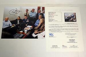President Barack Obama Signed Bin Laden War Situation Room 8x10 Photo JSA COA