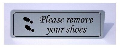 Eliminar sus zapatos Letrero De Metal Luz Placa En Blanco, Plata, Espejo De Plata Y Oro