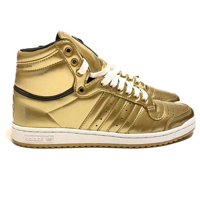 ADIDAS TOP TEN HI STAR WARS C-3PO SIZE 9.5 NEW In Box FY2458 GOLD In Hand