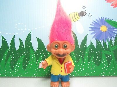 "TEACHER / PROFESSOR   - 4"" Lucky Troll Doll - Very Rare"