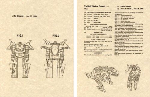 Combiner Decepticon Transformers GRIMLOCK US Patent Art Print READY TO FRAME
