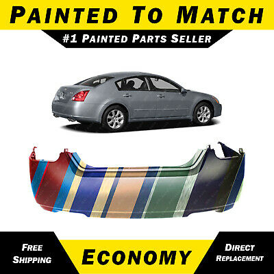 PREMIUM Fits: 2004 2005 2006 Nissan Sentra Rear Bumper Cover Painted