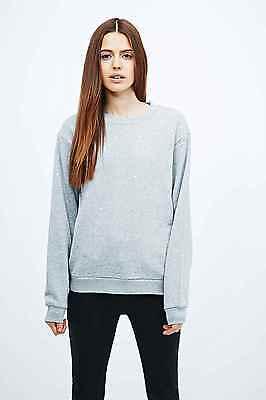 Grey Cheap Monday Shaw Sequin Sweatshirt Jumper XS RRP £60