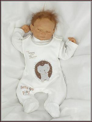 Nurserytime 2tlg Baby Zweiteiler Strampler Weiß Beige Gr 50 56 62 68 Englandmode Schmerzen Haben