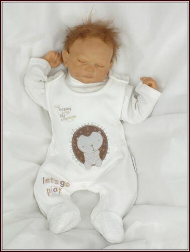 NurseryTime 2Tlg Baby Zweiteiler Strampler Weiß Beige gr 50 56 62 68 Englandmode