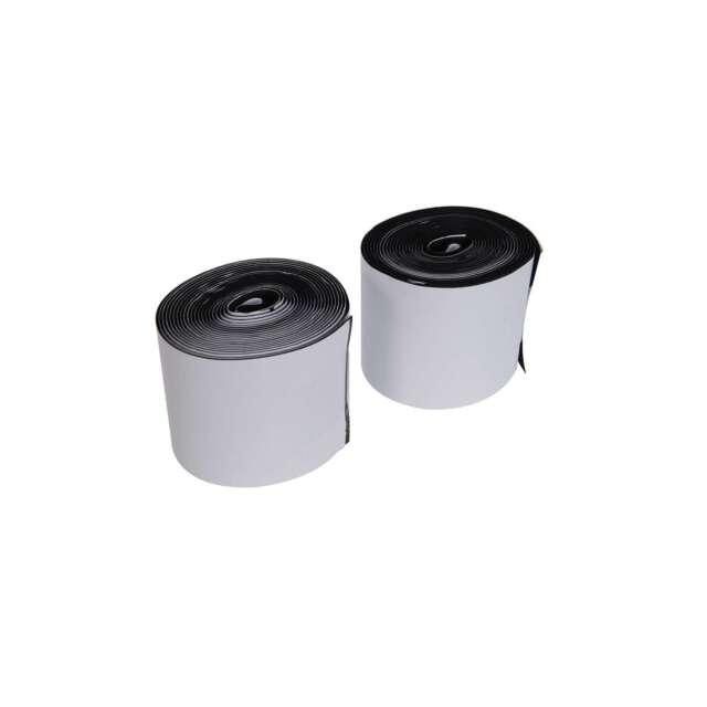 1x 2 Piece Fixman 100mm x 5m Hook & Loop Tape Black Self-Adhesive