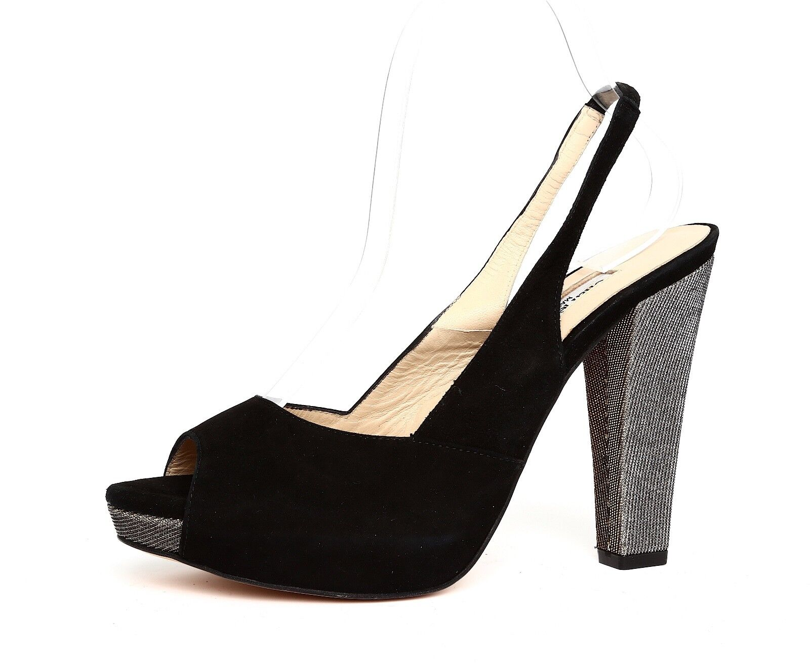 promozioni eccitanti Charles David Donna    nero Metallic High Heel Slingback Sandal Sz 8.5B 2024  colorways incredibili