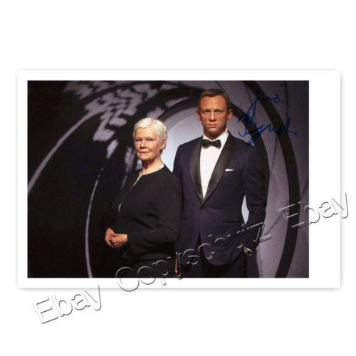 Autogrammfotokarte laminiert Judi Dench in James Bond Skyfall mit Daniel Craig