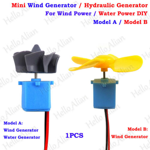Mini éoliennes Générateur Hydraulique Eau Générateur de lame bricolage Student Project