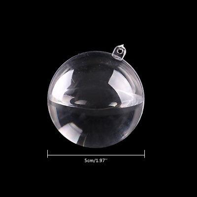 5-50X Clear Balls Baubles Sphere Fillable box DIY Christmas Tree Ornament Decor