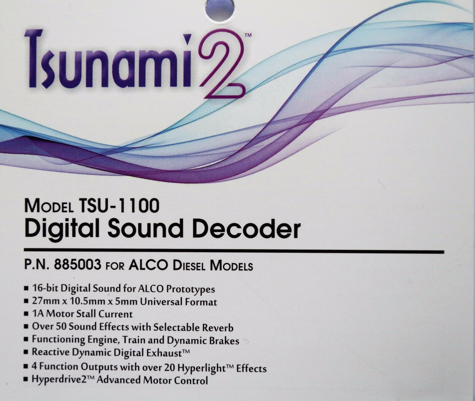 DCC decoder Soundtraxx TSU-1100 Tsunami2 Digital Sound Decoder for ALCO Diesels