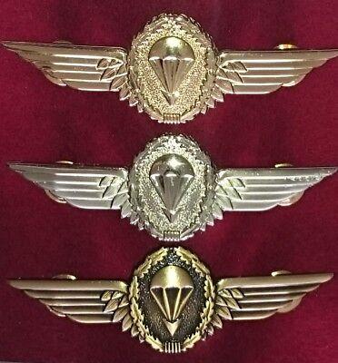 metal German Paratrooper Fallschirm  wing // Badge Set of 3 different
