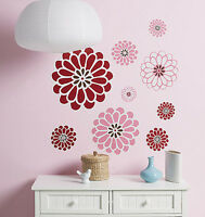 Big Daisy Flowers Pink Removable Peel Stick Vinyl Wall Art Stickers Decals Decor